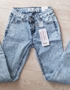 Spodnie jeansy rurki NEW YORKER NOWE r 25 S 36...