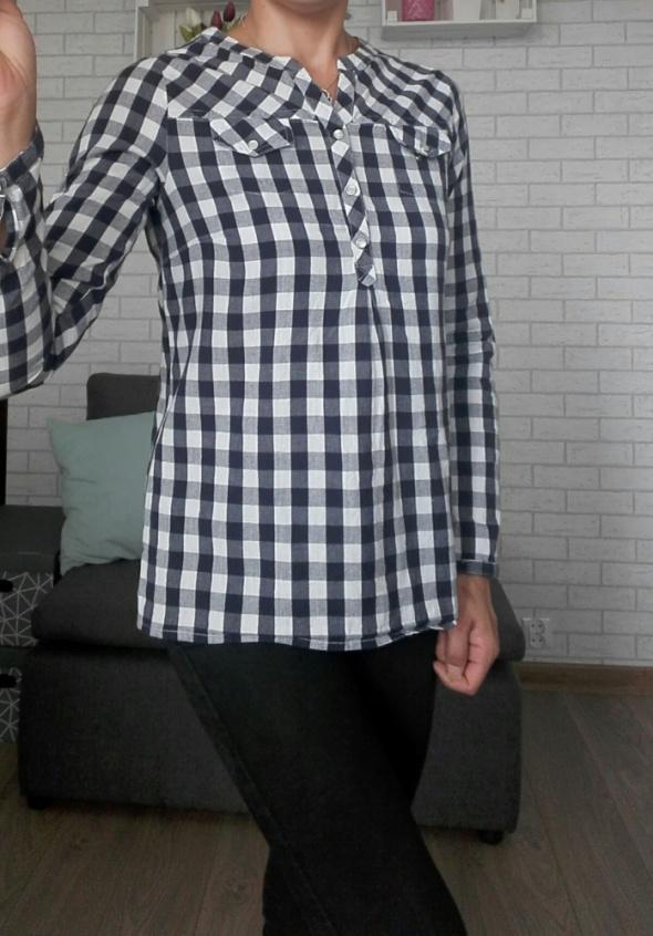 Koszulowa bluzka rekaw roll up