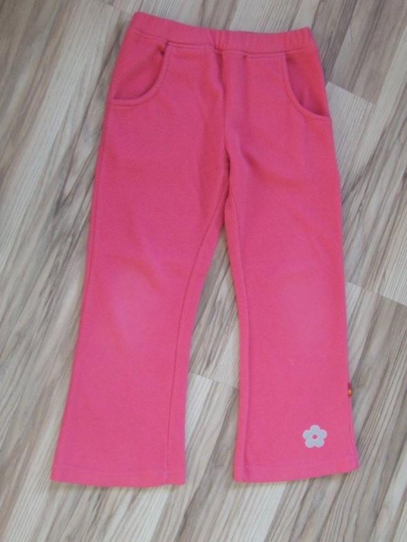 rozowe spodnie polarowe rozmiar 128