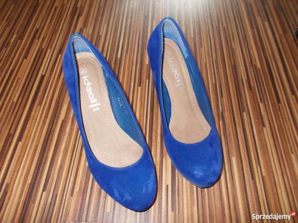 niebieski czolenka Ideal rozmiar 38...