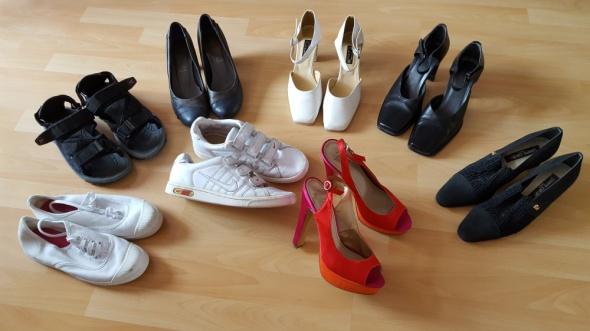 zestaw butów mega zestaw 8 sztuk rozmiar 38