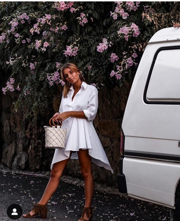 Biała tunika Zara
