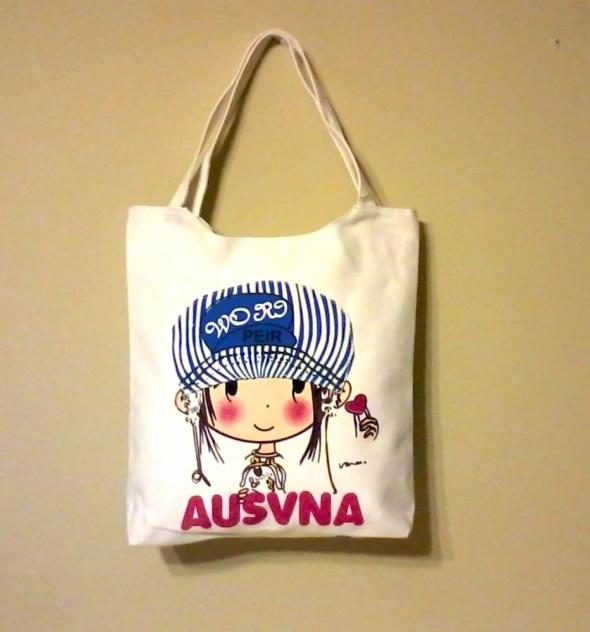 Nowa biała materiałowa torebka dziewczynka
