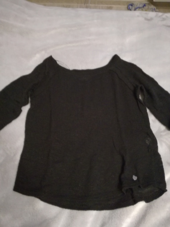 Czarna bluzka cropp...