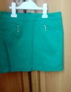 Wyprzedaż zielona spodniczka mini z zipami 36...