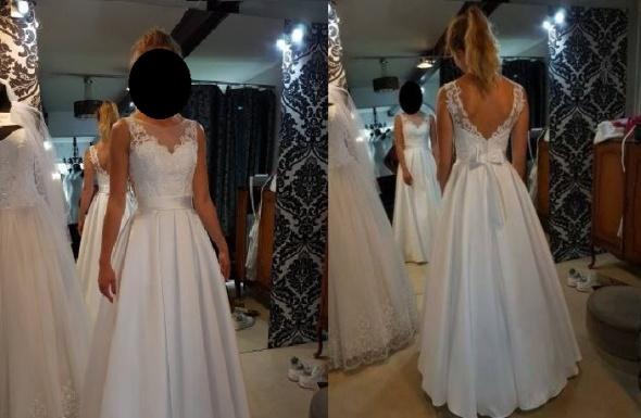 przepiękna oryginalna suknia ślubna