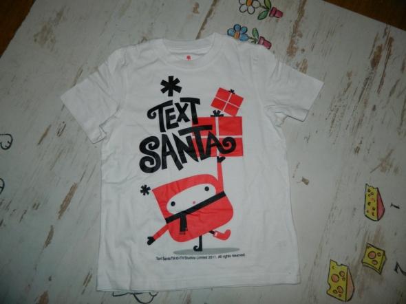TEXT SANTA koszulka z nadrukiem roz 122 128