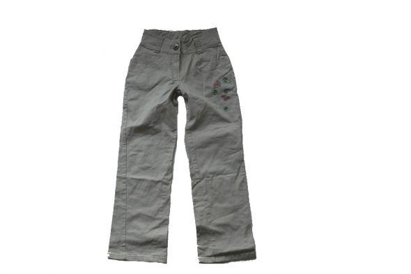 Spodnie beżowe wyższy stan z aplikacją 146 Nowe