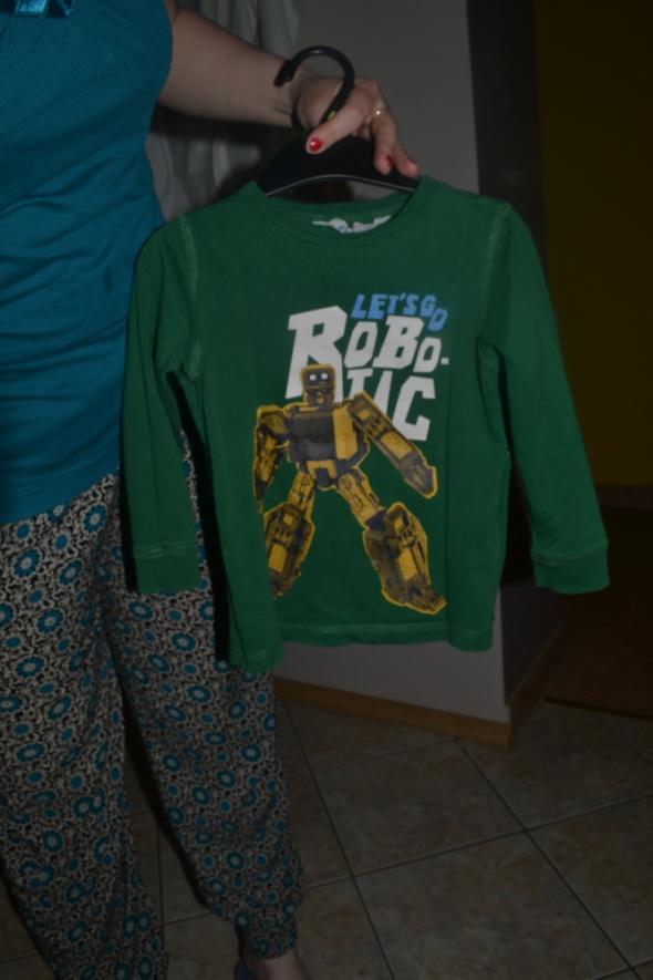 H&M Robotic bluzka z długim rękawem 86cm 92cm 2 lata około 3 lat