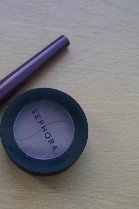 Sephora cień i eyeliner smoky eyes purple fioletowy