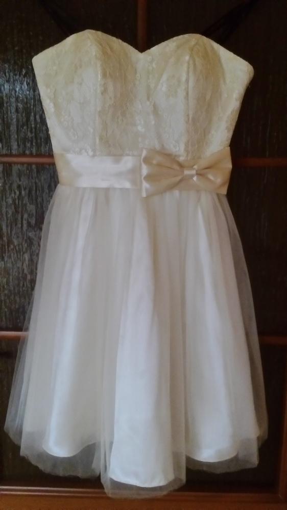 Laona sukienka ślub wesele tiul koronka kokarda