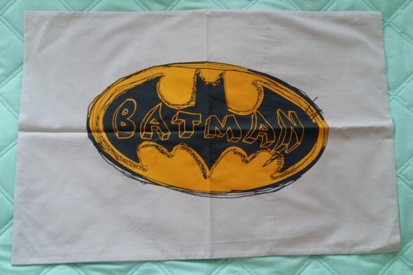 SZARA POSZEWKA NA PODUSZKĘ BATMAN 40 x 60 cm
