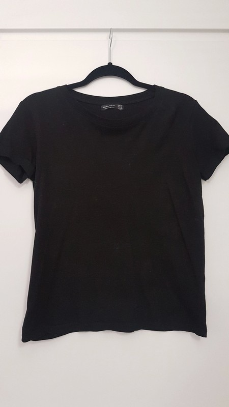 Top shirt Bershka kolor czarny basic S...