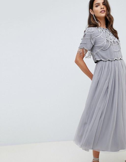 Ubrania Sukienka ASOS top tiul zdobienie