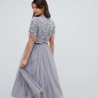 Sukienka ASOS top tiul zdobienie