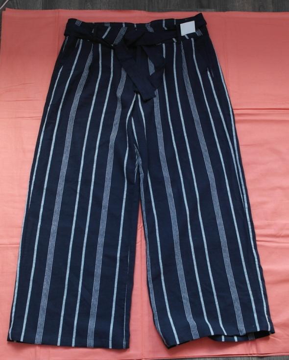 Spodnie nowe lniane F&F duży rozmiar