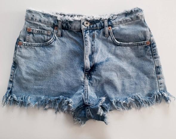jeansowe szorty spodenki bershka...