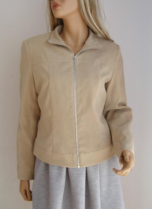kurtka ramoneska przejściowa jak zamsz 40 L