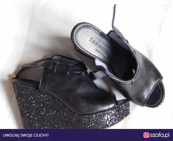 buty damskie 37 r letnie na małej koturnie