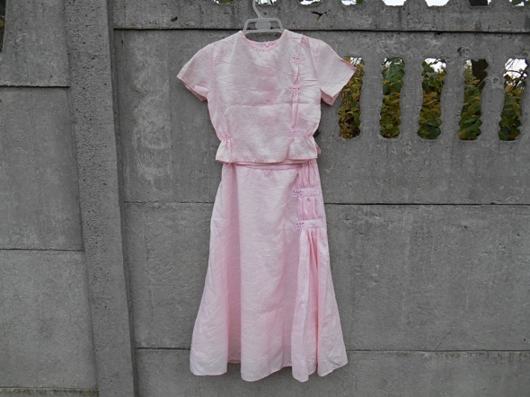 Sukienka 128 balowa dwuczęściowa Różowa