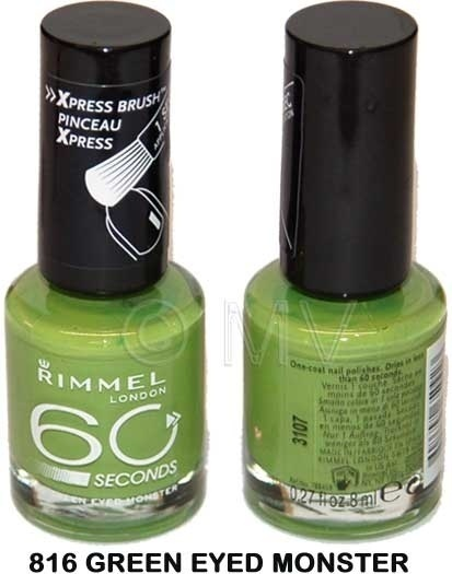 RIMMEL LAKIER 60 SECONDS 816 GREEN EYED MONSTER