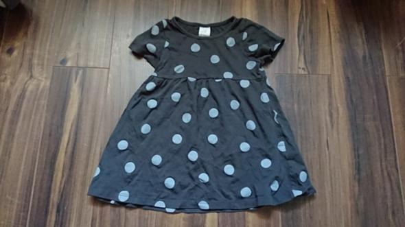 dżersejowa sukienka H&M kropki groszki 86