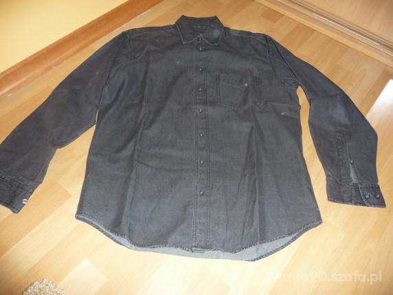 Męska czarna koszula jeansowa