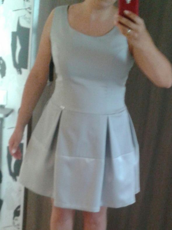 Sukienka Cocomore 38 stalowo srebrna