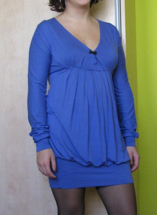 sukienka tunika niebieska