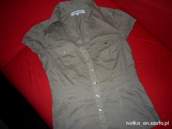 rozm 38 M CLOCKHOUSE bluzka koszulowa MILITARNA