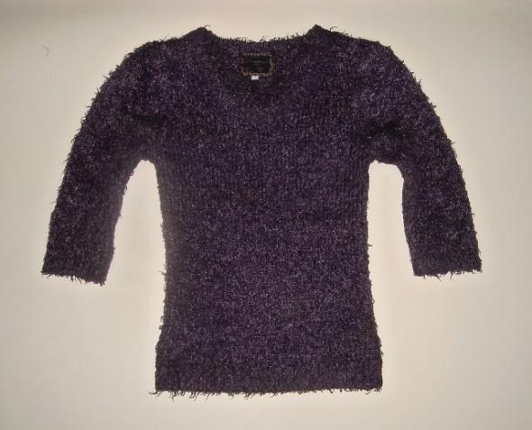 włochaty fioletowy sweter 10 s m