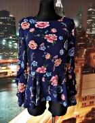 primark bluzka granatowa modna kwiaty ptaki floral hit blog 44...