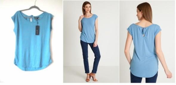 Greenpoint niebieska bluzka top z wiązaniem na plecach nowy...