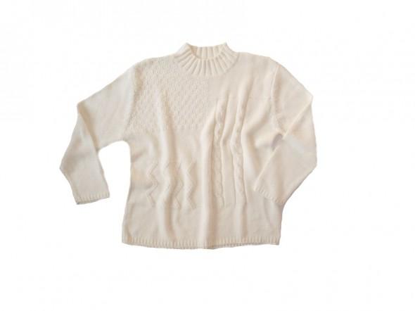 NOWY biały ciepły sweter 48
