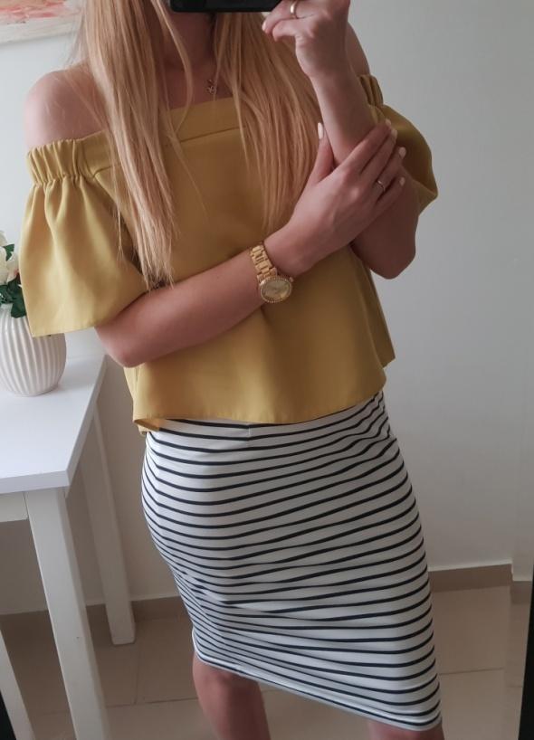 Top shop bluzka hiszpanka elegancka S
