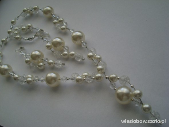 Cudny komplet perłowy Swarovski kryształ