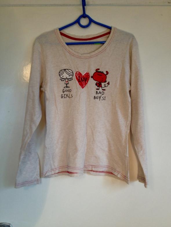 Piżama bluzka beżowa good girls elastyczna XS S 34 36 38 M używana serce