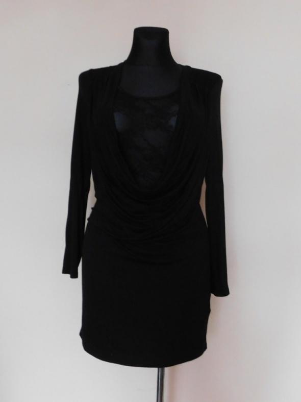 Asos czarna sexy mini sukienka koronka 38...
