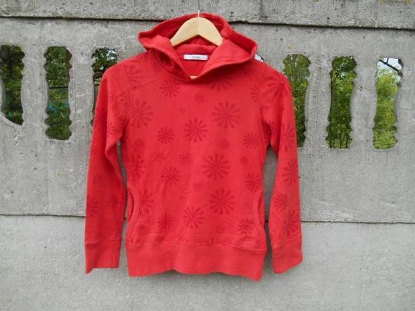 Bluzy bluza 134 140 ceglasta w czerwone kwiaty