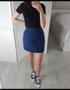 Denim Co jeansowa L spódniczka z wysokim stanem dżinsowa...