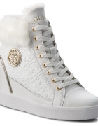 GUESS 36 botki sneakersy na koturnie koturny białe...