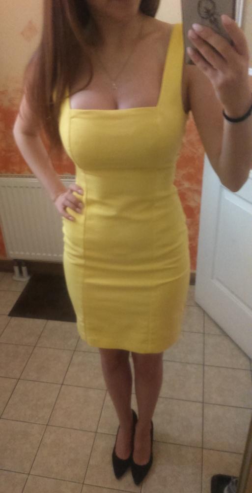 Żółta sukienka ZARA XS