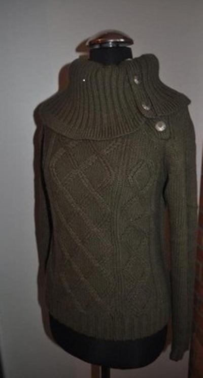 Swetry Ciepły butelkowy z kołnierzem Reserved