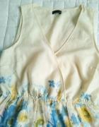 letnia zwiewna sukienka w kwiaty...