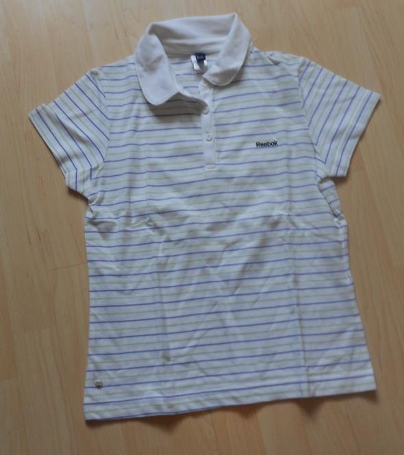 Bluzki bluzka koszulka sportowa polo w paski reebok s