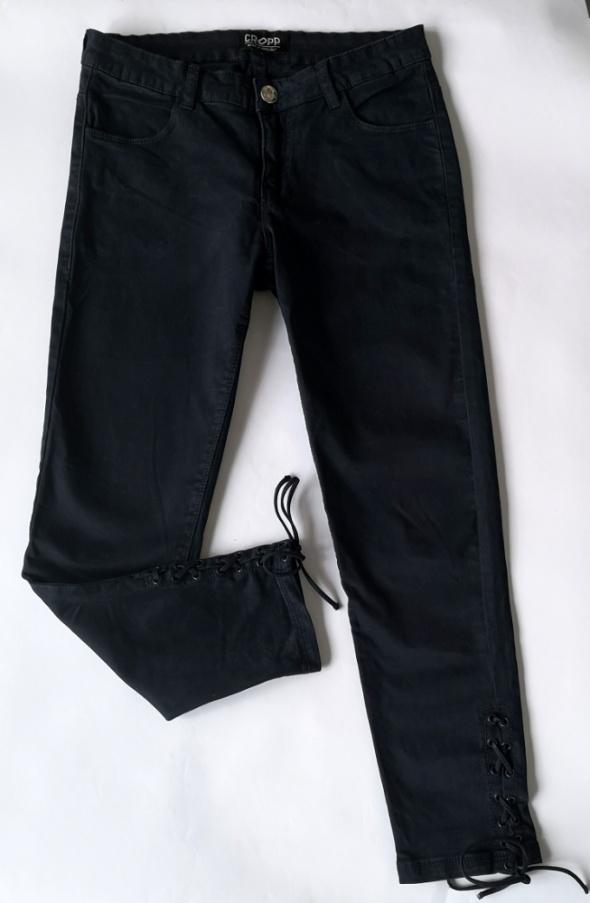 spodnie rurki CROPP sznurowane wiązane nogawki S