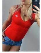 bluzka Top Adidas czerwona r S adidas adidas...