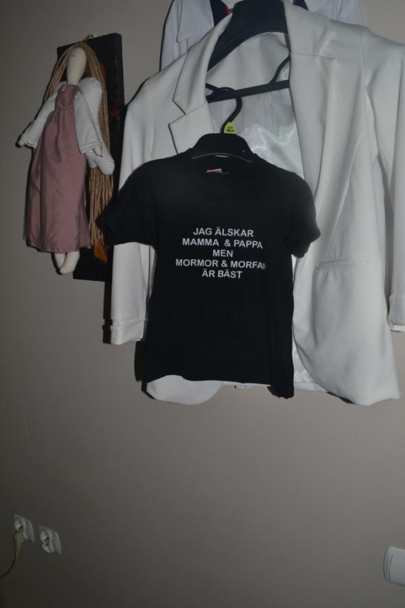 Czarny Tshirt 92cm 2 3 lata
