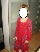 Sukienka róże Folk 128cm 122cm 6 7 lat 8 lat...