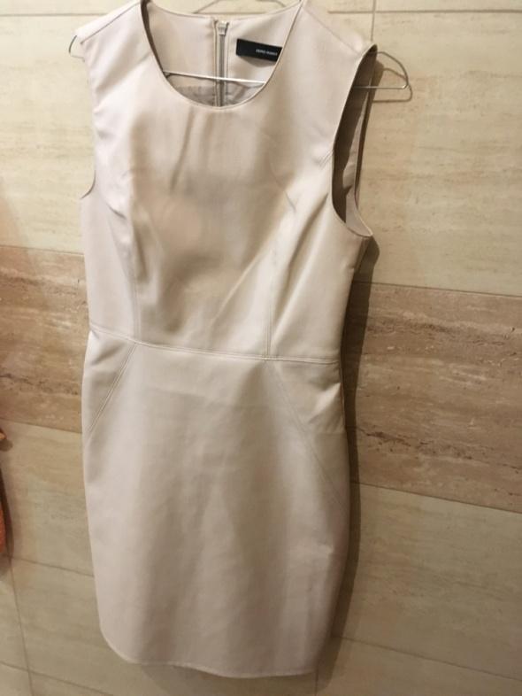 Suknie i sukienki nowa sukienka bęzowa kremowa 36 S z metką vero moda
